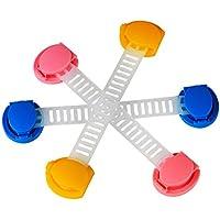 3pcs Colorful multifunzione Allungare protezione ambientale in resina Bimbo Chiusure di sicurezza con forte applicazione di gomma