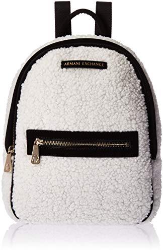 Armani Exchange Damen Backpacks Rucksack, Weiß (Martini), 28.0x8.0x24.0 cm
