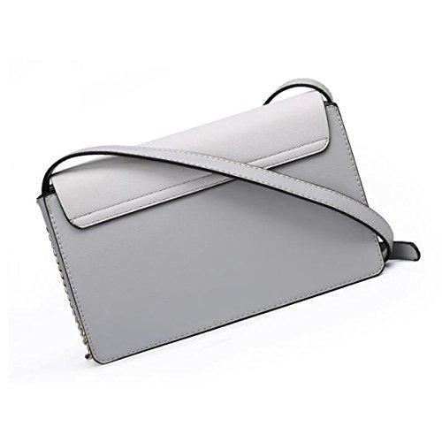 Umhängetasche Kuriertasche Mode Handtasche Tasche Kleine Quadratische Tasche,Gray Pink