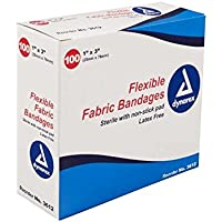 Dynarex Selbstklebende Stoff-Bandage, 1 Zoll X 3 Zoll steril, 100 Stück (1 Karton) preisvergleich bei billige-tabletten.eu