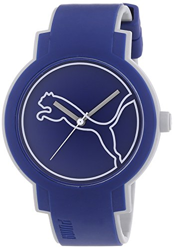 Puma Swing Unisex Quartz Watch with Blue Dial Analogue Display and Blue PU Strap PU911181004