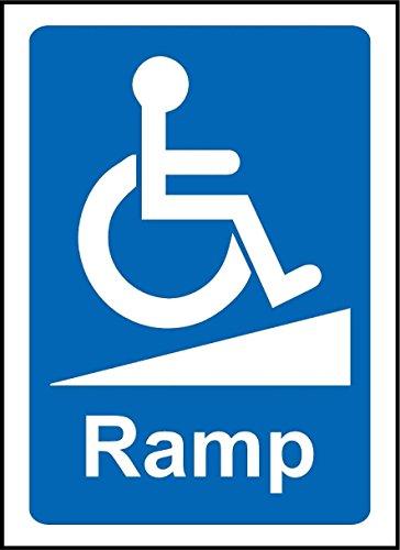 Rollstuhl Rampe Behinderte Schild–3mm Aluminium Schild 400mm x 300mm (Vorteil Rollstuhl)