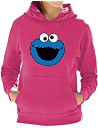 Cookie Monster funny print Ladies Hoodies Available in multiple Colours And Sizes.Free Delivery