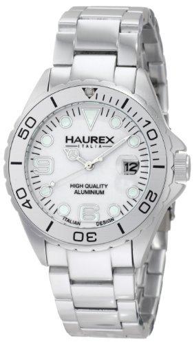 Haurex Italy Haurex Italia Plata Dial Plata aluminio Mens Reloj