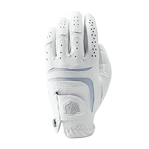 Wilson Golf WGJA00102M Gants Femme, Blanc, Taille : M