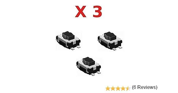 3X Bouton Switch pour Télécommande clé Plip Peugeot