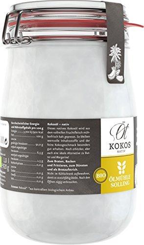 Ölmühle Solling Bio Kokosöl / Kokosfett – 1000ml - 3