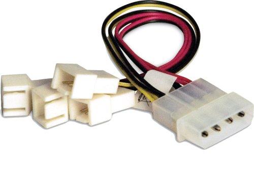 Akasa AK-CB001 4 x 3-pin 4-pin Molex Multicolor adaptador de cable - Adaptador para cable (4 x 3-pin, 4-pin Molex, 0,15 m, Multicolor)