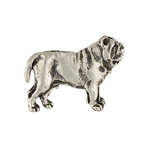 Neapolitanischer Mastiff, Hund, Silber, Anstecker, Pin, Limitierten Edition, Art Dog