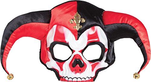 Erwachsene Party Kostüm Zubehör Halloween Horror Hofnarr Totenkopf (Hofnarr Kostüm Halloween)