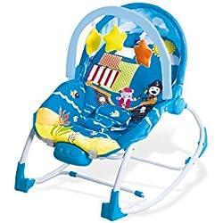Asalvo Evolutiva - Hamaca para bebé, diseño Aventuras, color azul y celeste