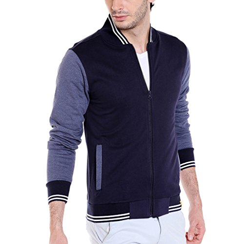 Campus Sutra Men's Plain Jacket (AZZW17_HVAR_M_PLN_BUDN_AZ_L)
