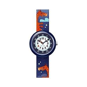 Flik Flak Jungen Analog Quarz Uhr mit Kunststoff Armband FBNP144
