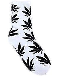Misterioso y Elegante Calcetines Deportivos de algodón de 1 par de Medias de Marihuana de 1