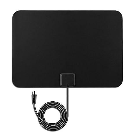 Antenne Amplifiée HDTV VicTsing Antenne Intérieure Numérique Ultra-mince 50 Miles
