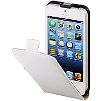 Hama Flip Case (geeignet für Apple iPhone 5/5s/SE Tasche, maßgefertigte Schutzhülle mit Magnetverschluss) weiß