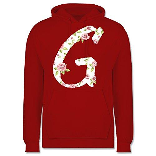 Anfangsbuchstaben - G Rosen - Männer Premium Kapuzenpullover / Hoodie Rot