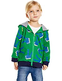 72594d70a Sudadera con Capucha Niños Sudadera para niño Bebé Sweatshirt Manga Larga  Encapuchado Abrigos Dibujo Dinosaurios Sudadera
