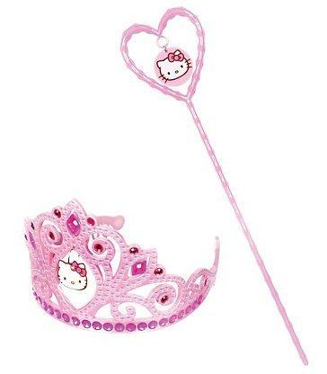 Cakesupplyshop Pink Hello Kitty Tiara and Wand Set by CakeSupplyShop (Kitty Tiara Hello)