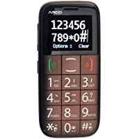 foxnovo® One-SIM Dual-band 1.8-inch Large Volume Big Font Elder Cellphone with Bluetooth /SOS /Torch /FM /MP3 (Wine Red)