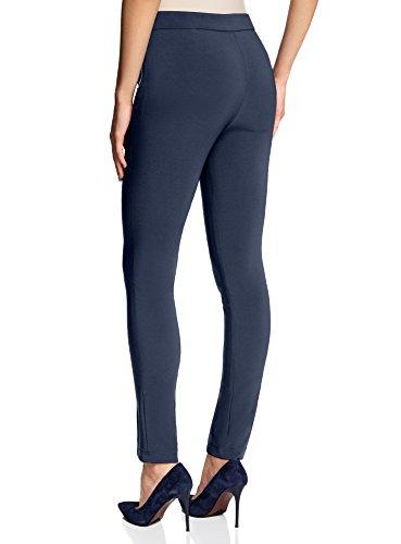 oodji Ultra Donna Pantaloni Basic Stretti Blu (7900N)