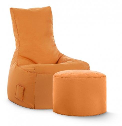 Sitzsack-Set Scuba Swing + Hocker orange