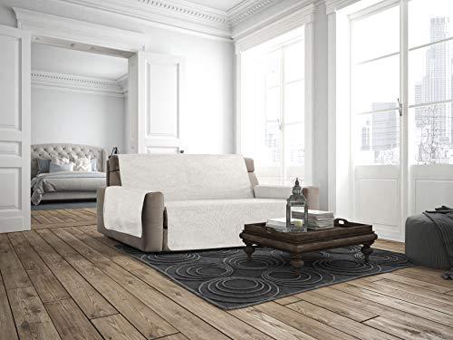 Italian Bed Linen Copridivano Antiscivolo Comfort, Panna, 3 Posti