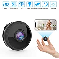 Spy Camera, 1080P HD Hidden Cameras WiFi Spy Camera, Small Wireless Home Nanny Security Surveillance Cam with Motion Detection and Night Vision, Covert Cameras Hidden for Indoor/Outdoor(UPDATED)