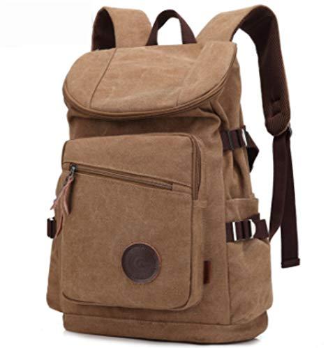 LIEOAG Reise-Laptop-Rucksack, Business Canvas Rucksack, Daypack, College-Männer-Frauen-brown -