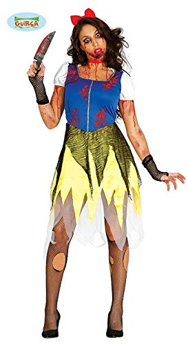 Zombie Schneewittchen Halloween Kostüm für Damen Blutig Prinzessin Halloweenkostüm Gr. M-L, Größe:M