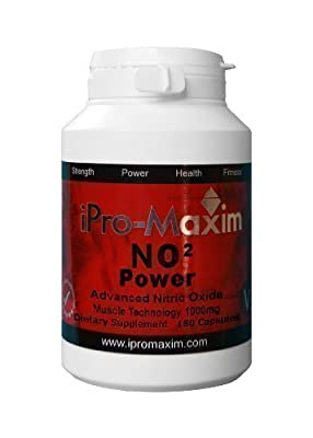 NO2 Nitric Oxide iPro-Maxim POWER (180 caps) 1000 Mg per capsule - The most powerful Professional GRADE next level sporting supplement on the market The most complete muscle anabolism supplement which Maximizes, intense muscle pumps from iPro-Maxim