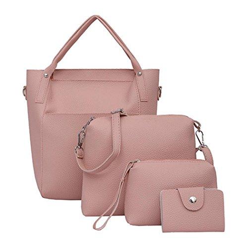 Longra Sacchetto del vestito di quattro parti della borsa della borsa del sacchetto di spalla della borsa Rosa Venta Barata De Cuánto aMyYe