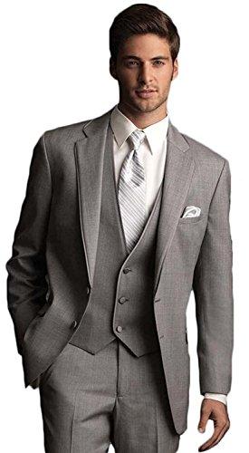 Neue 2-knopf Herren Anzug (Lilis® Bräutigam Smoking Hochzeits Ereignis Anzüge der Männer zwei Knopf-3 Stück für Partei)
