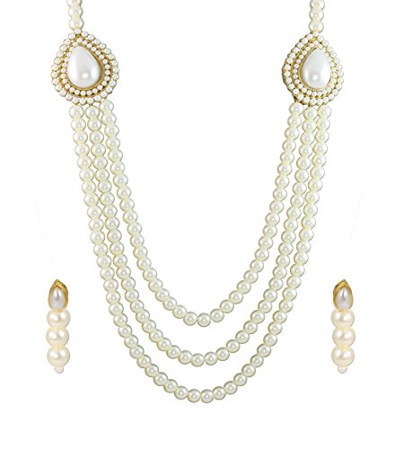Zaveri Pearls Grand Moti Rani haar Necklace Set For Women - ZPFK4137