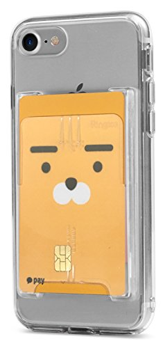 Ringke Slot Card Holder [Clear Mist] Adhesive Stick On Wallet Case Minimalist Slim Hard Credit Card Sleeve for iPhone X, Samsung Galaxy S9 Plus, OnePlus 6, Other Phone Case Accessory