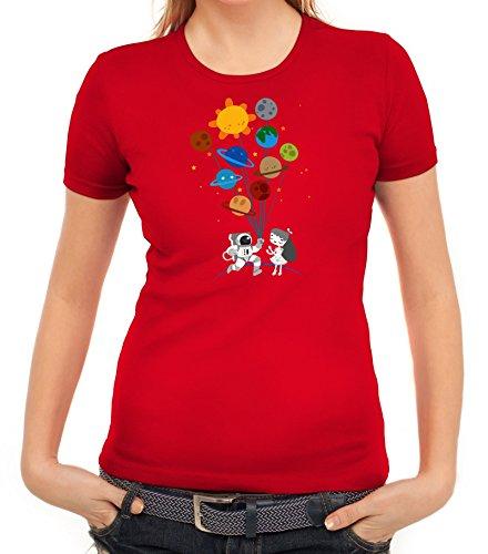 Geschenkidee Damen T-Shirt mit Valentine Love Motiv von ShirtStreet Rot