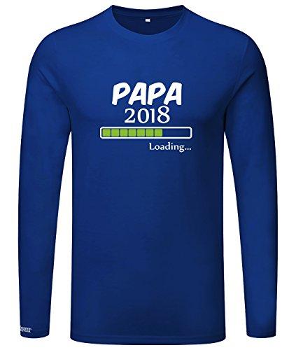 Papa loading 2018 - Herren Langarmshirt Royalblau