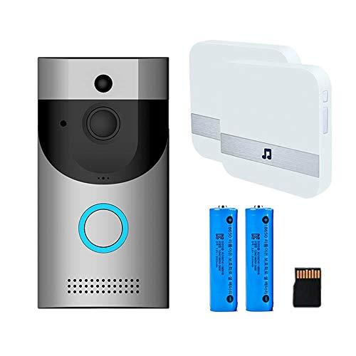 KOBWA WiFi Timbre de Video, Tarjeta SD de 32GB y baterías Timbre de l