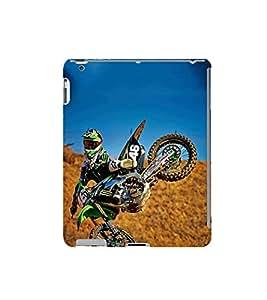Fuson Designer Back Case Cover for Apple iPad 2 :: Apple iPad 3 :: Apple iPad 4 (bike racingbike speed bike jumping bike sport bike)