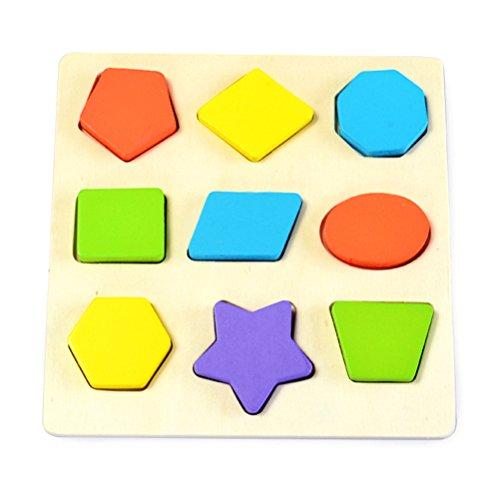 TOYMYTOY Wooden Preschool Montessori Early Educational Toys Jeux de géométrie intellectuelle S
