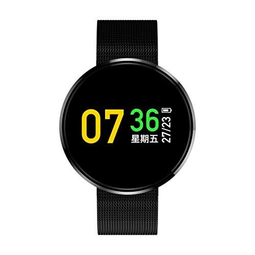 Elospy Sport Fitness Uhr, Fitness Tracker mit Pulsmesser Wasserdicht IP67 Smartwatch Fitness Armbanduhr Musiksteuerung Schlaf-Monitor Schrittzähler Touchscreen Armband für Damen Herren