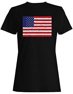 Nueva Bandera De America Usa Art camiseta de las mujeres i226f