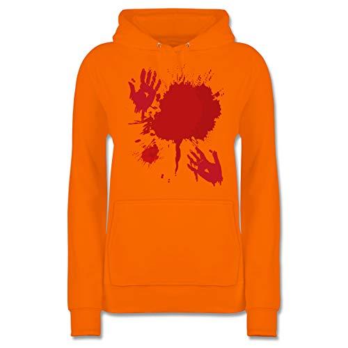 Shirtracer Halloween - Blutig Fasching Kostüm - XS - Orange - JH001F - Damen Hoodie