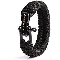 The Friendly Swede Paracord Survival Armband mit Micro-Cord - größenverstellbar, Überlebensarmband für Männer und Frauen