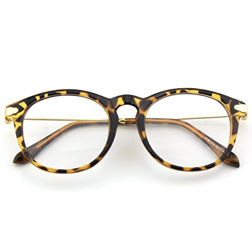 CN88 Klassische Nerdbrille rund Keyhole 40er 50er Jahre Pantobrille Vintage Look clear...