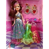 Beautiful Doll Set For Kids With Trendy Dresses Like Barbie Doll Set Toy Baby Gift