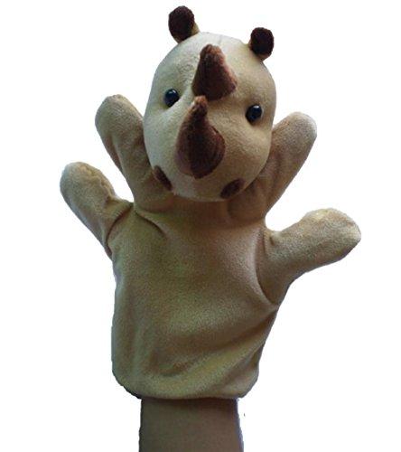 Udane Soft Puppe Puppen Spielzeug Afrikanischer Dschungel Tierpuppe Plüsch Handpuppe Spielzeug (Nashorn)