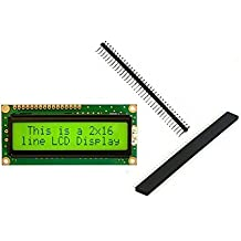 ElectroBot LCD 16X2 Alphanumeric Display With Pack Of Header Strips For 8051,AVR,Arduino,Pic,Arm