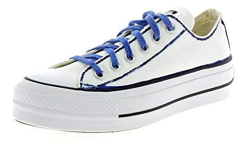 Converse Damenschuhe All Star Ltd Ed Sneaker Plattform Weiss/Blau Frühling-Sommer 2018 (Converse-plattform)