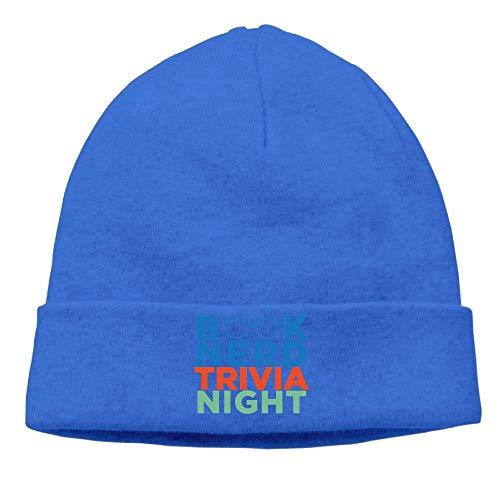 Book Nerd Trivia Night Beanies Skull Cap Winter Warm Hedging Cap